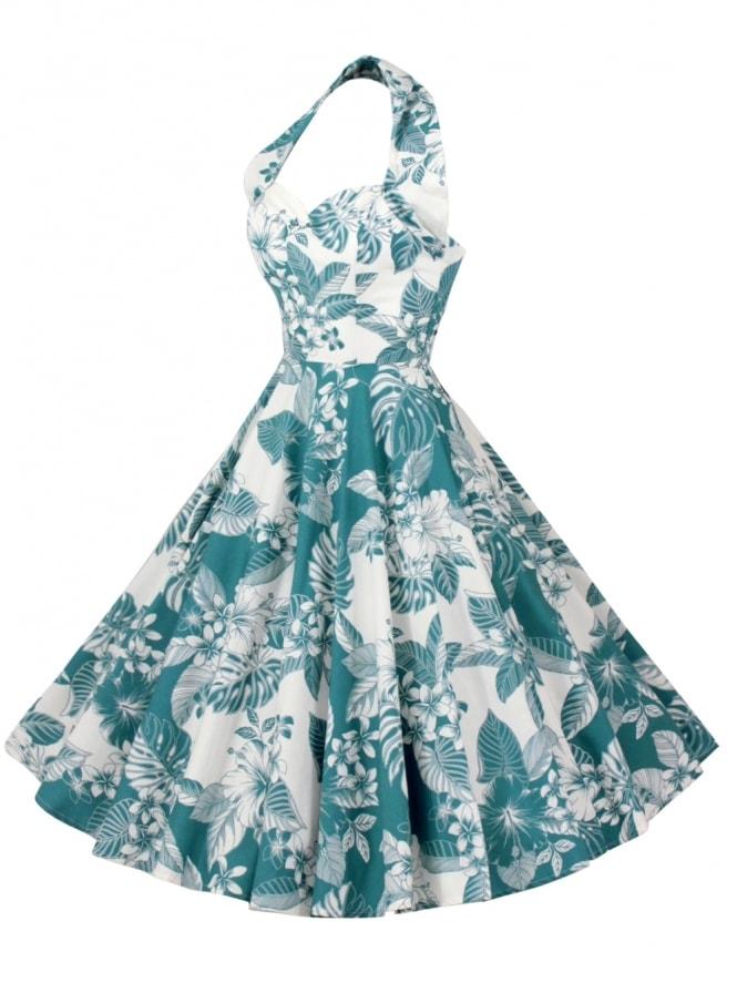 1950s Halterneck Oahu Marine Dress