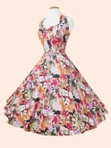1950s Halterneck Orange Meadow Dress