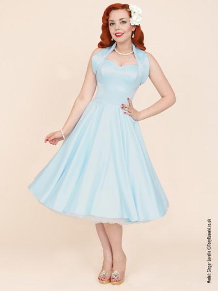 Pale bluelilac vintage 50s prom bridesmaid dress