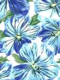 1950s Halterneck Pansy Blue Dress