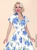 1950s Halterneck Victory Rose Royal Dress