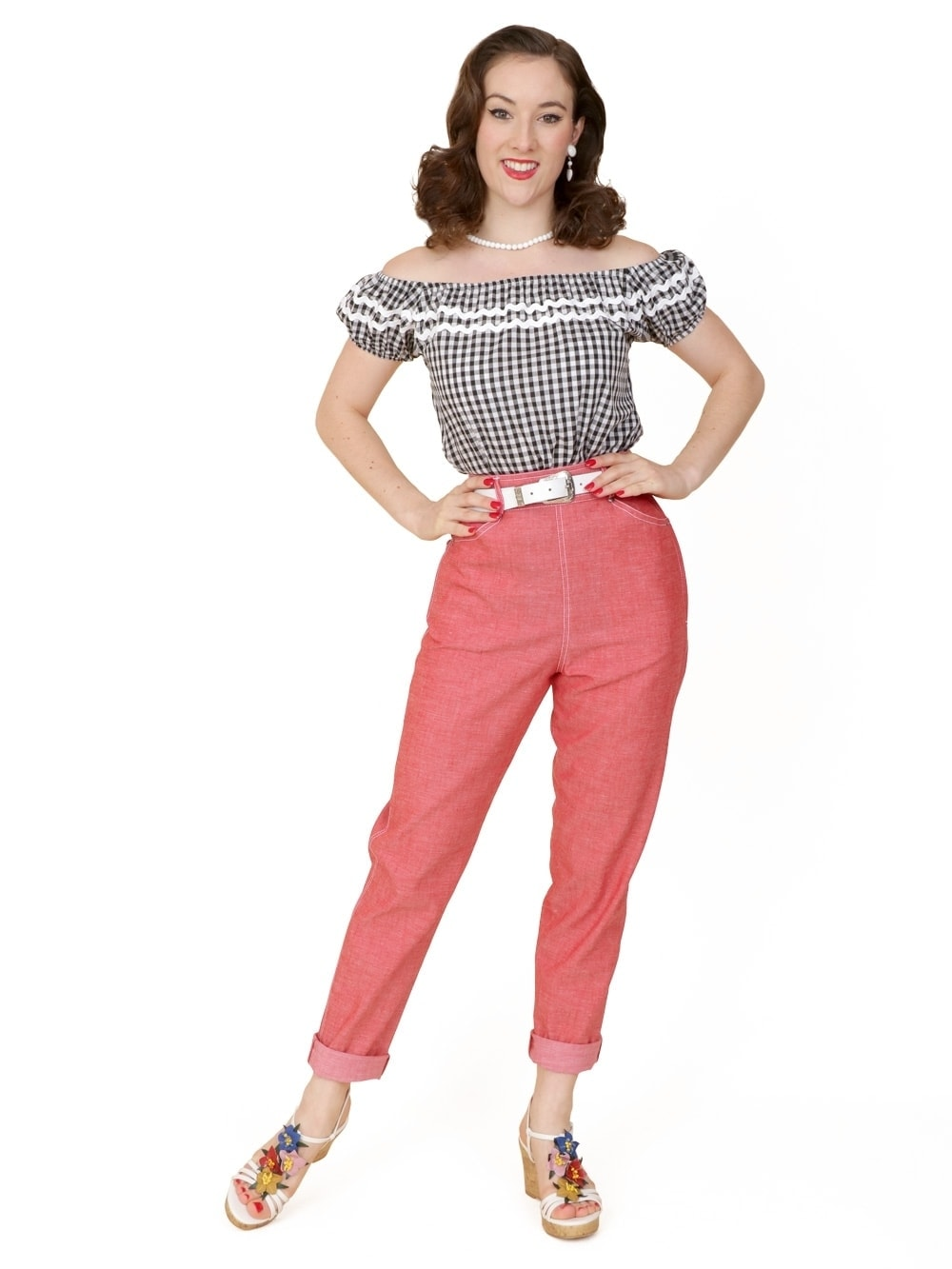 1950s jeans red denim from vivien of holloway