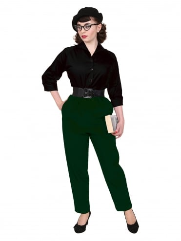50s-1950s-Trousers-Green-Flannel-Vivien-of-Holloway-swing-pinup-rockabilly