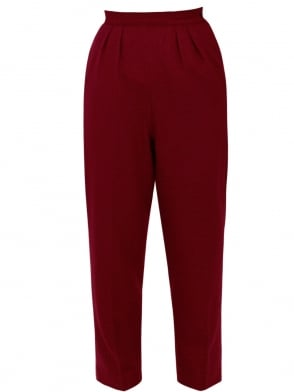 1950s Trousers Ruby Flannel