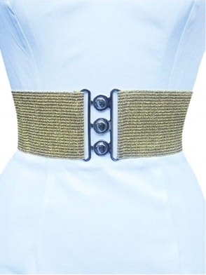 "3"" Belt Gold Glitter"