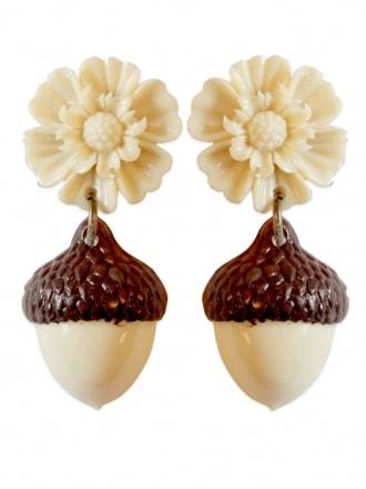 Acorn Flower Earrings
