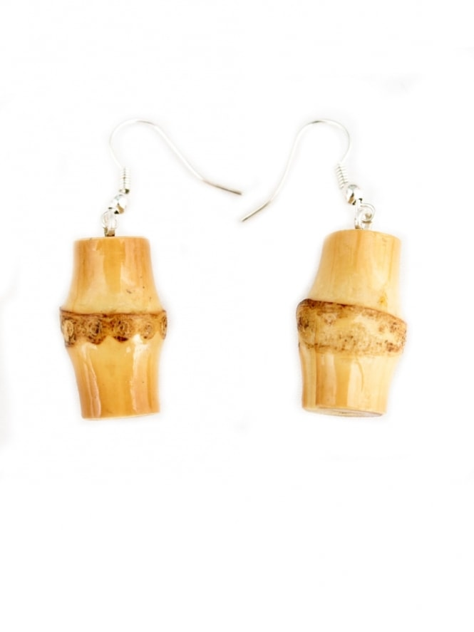 Bamboo Barrel Earrings