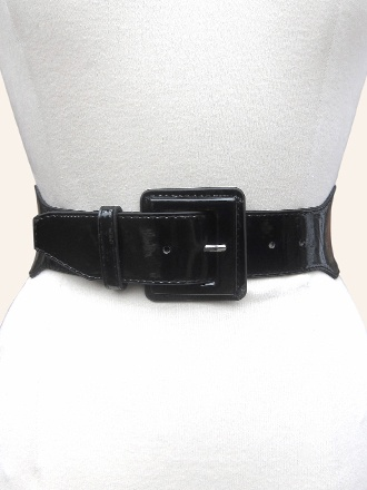 Belt Stretch Black Patent