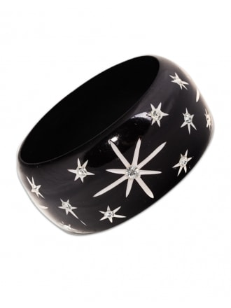 Black Starburst Bangle