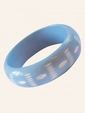 Blue Carved Bangle
