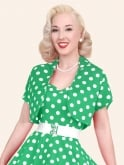 Bolero Green White Polka