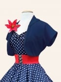 Bolero Plain Navy Sateen