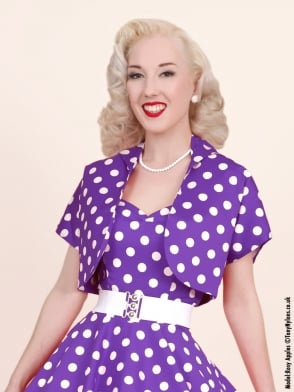 Bolero Purple White Polka