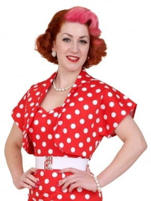 Bolero Red White Polka