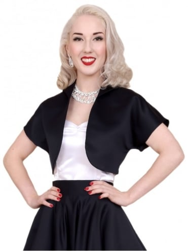 Bolero Satin Black Duchess