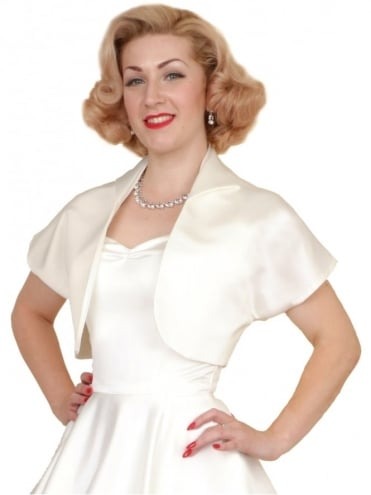 Bolero Satin Ivory Duchess