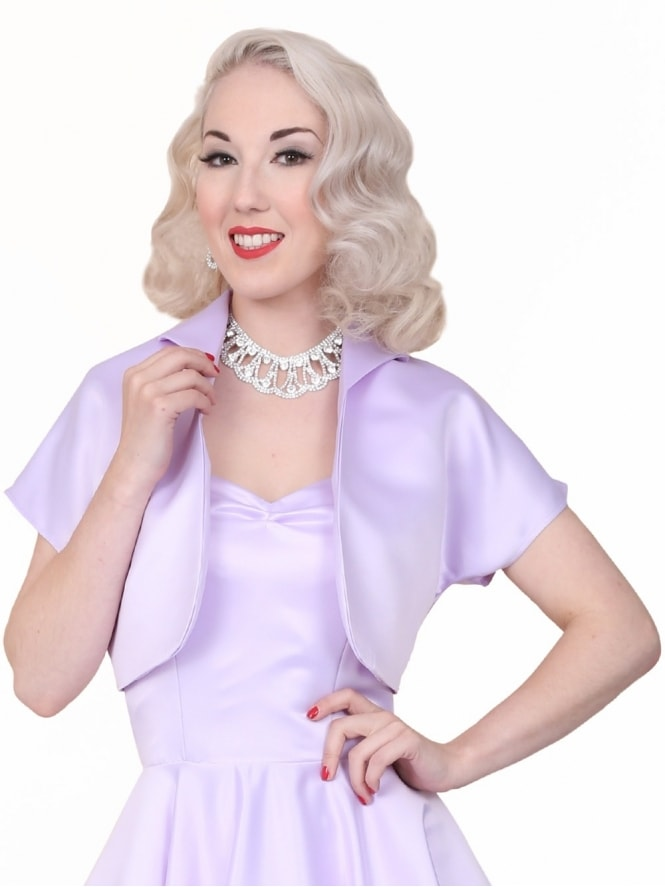 50s-1950s-40s-1940s-Vivien-of-Holloway-Best-Vintage-Style-Reproduction-Repro-Bolero-Jacket-Lilac-Duchess-Satin-Purple-Rockabilly-Swing-Pinup