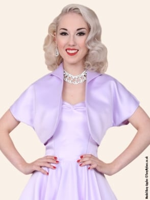 Bolero Satin Lilac Duchess