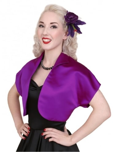 50s-1950s-40s-1940s-Vivien-of-Holloway-Best-Vintage-Style-Reproduction-Repro-Bolero-Jacket-Mulberry-Duchess-Satin-Purple-Rockabilly-Swing-Pinup