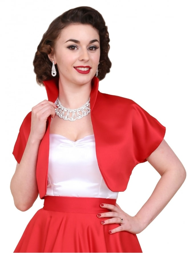 50s-1950s-40s-1940s-Vivien-of-Holloway-Best-Vintage-Style-Reproduction-Repro-Bolero-Jacket-Red-Duchess-Satin-Rockabilly-Swing-Pinup