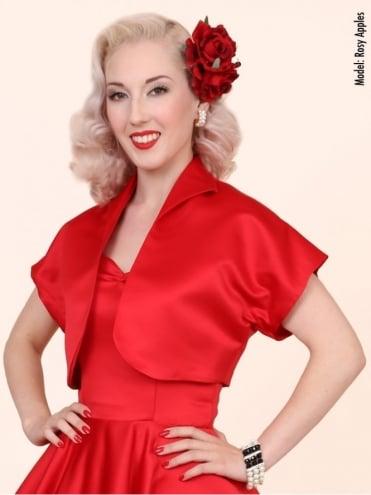 Bolero Satin Red Duchess