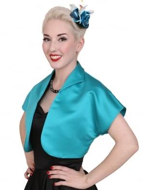 Bolero Satin Turquoise Duchess