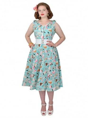 50s-1950s-Vivien-of-Holloway-Best-Vintage-Reproduction-Bonnie-Dress-Aquatic-Floral-Sundress-Rockabilly-Swing-Pinup-Pinupgirl-Pinupgirldress-Heart-Shaped-Pocket