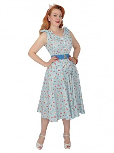Bonnie Dress Cupcake Blue