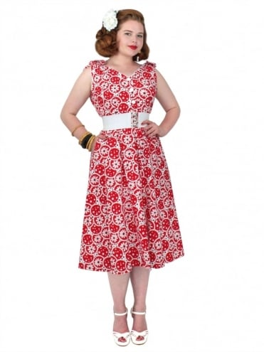 Bonnie Dress Daisy Bubble Red