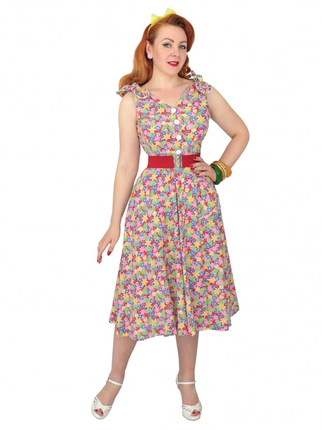 50s-1950s-Vivien-of-Holloway-Best-Vintage-Reproduction-Bonnie-Dress-Floral-Fiesta-Red-Sundress-Rockabilly-Swing-Pinup-Pinupgirl-Pinupgirldress-Heart-Shaped-Pocket