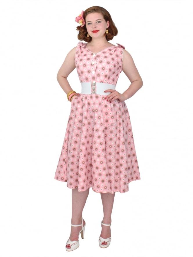 50s-1950s-Vivien-of-Holloway-Best-Vintage-Reproduction-Bonnie-Dress-Pink-Spiral-Floral-Sundress-Rockabilly-Swing-Pinup-Pinupgirl-Pinupgirldress-Heart-Shaped-Pocket