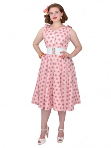 50s-1950s-Vivien-of-Holloway-Best-Vintage-Reproduction-Bonnie-Dress-Pink-Spiral-Floral-Sundress-Rockabilly-Swing-Pinup-Pinupgirl-Pinupgirldress-Heart-Shaped-Pocket