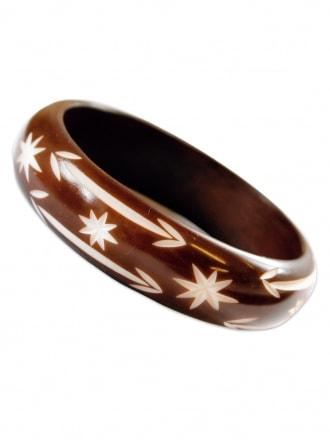 Brown Carved Bangle