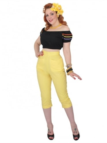 50s-1950s-Vivien-of-Holloway-Best-Vintage-Reproduction-Repro-Capri-Pants-Buttercup-Swing-Pinup-Rockabilly-Western