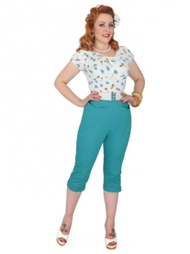 50s-1950s-Vivien-of-Holloway-Best-Vintage-Reproduction-Repro-Capri-Pants-Honey-Bird-Swing-Pinup-Rockabilly-Western