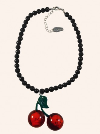 Cherry Skull Necklace