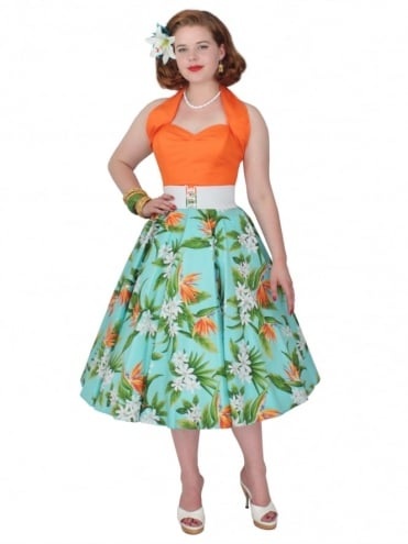 Circle Skirt Bird of Paradise Sky