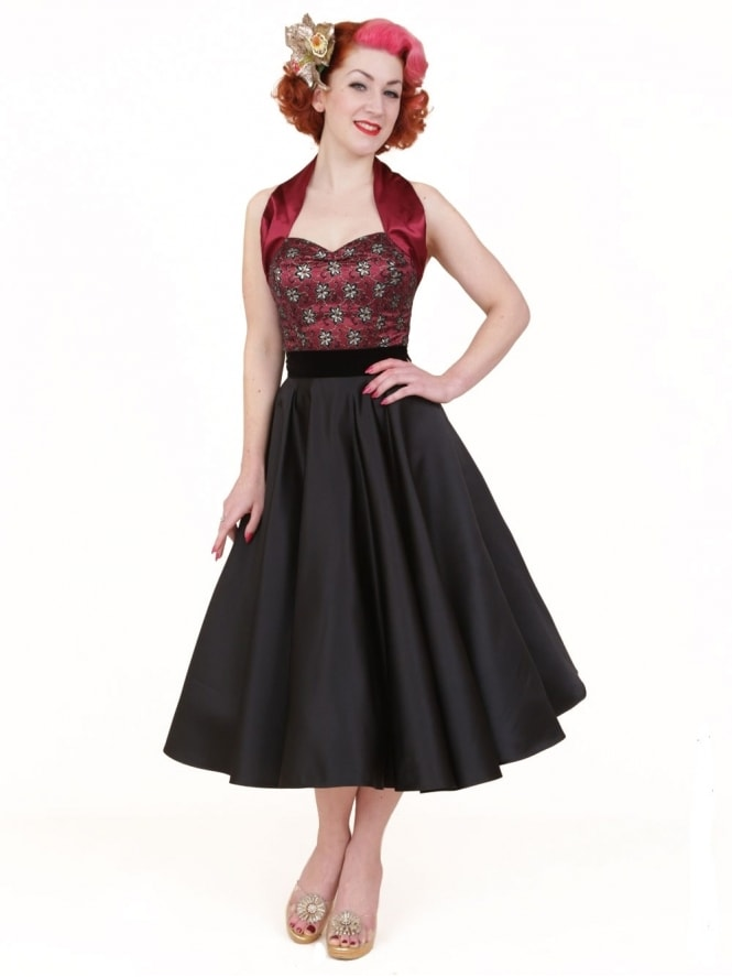 Circle Skirt Black Duchess