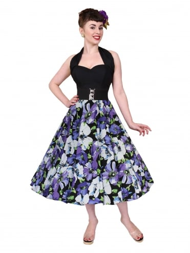 Circle Skirt Black Purple