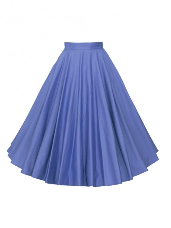 Circle Skirt Bluebell Sateen