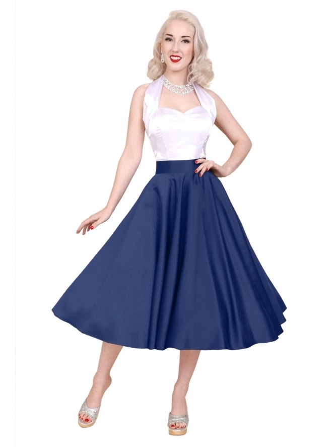 Circle Skirt Blueberry Duchess