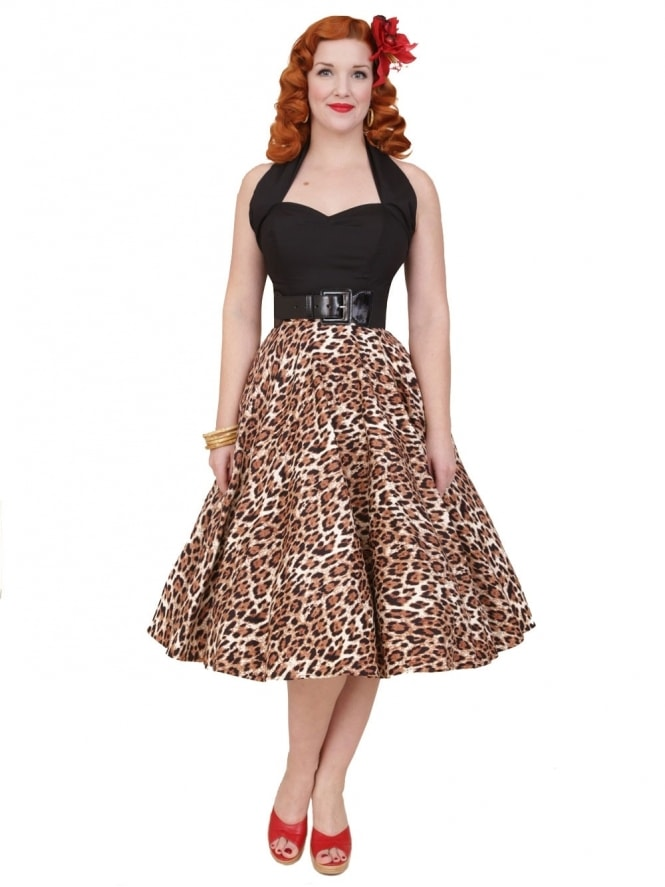 Circle Skirt Brown Leopard