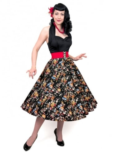 Circle Skirt Day of The Dead