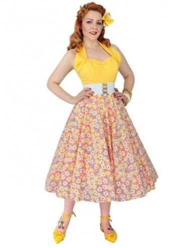 Circle Skirt Floral Peach