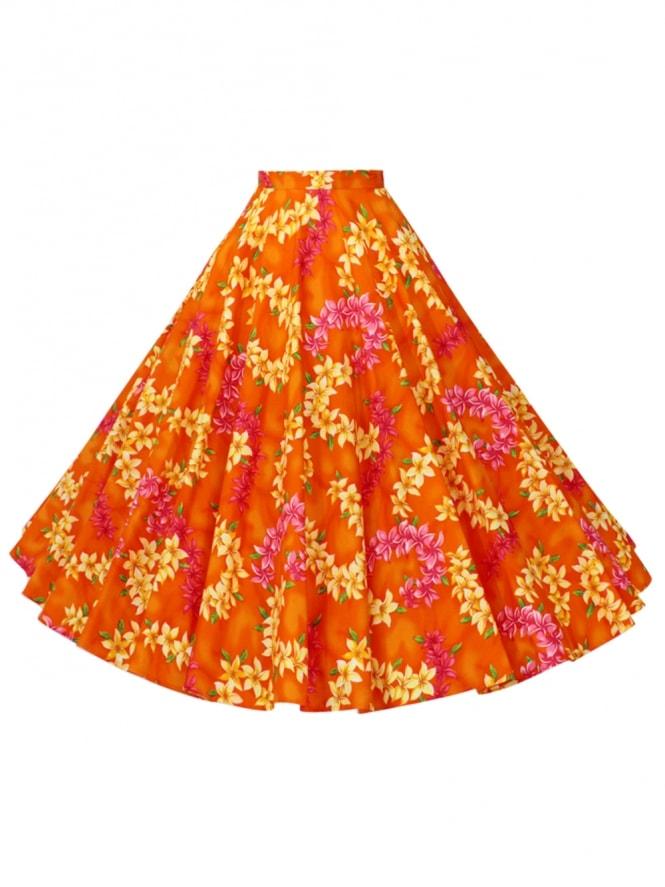 Circle Skirt Garland Orange