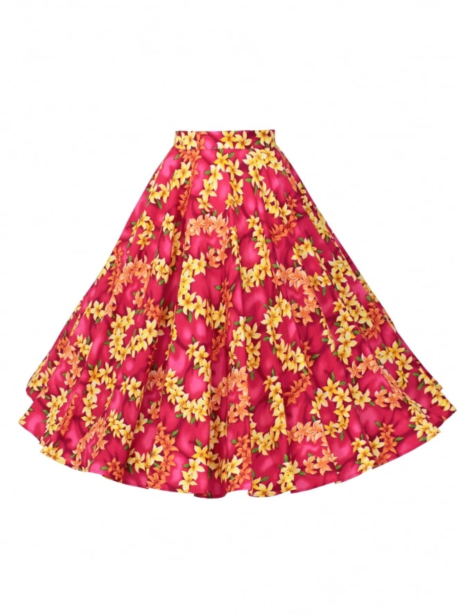 Circle Skirt Garland Pink