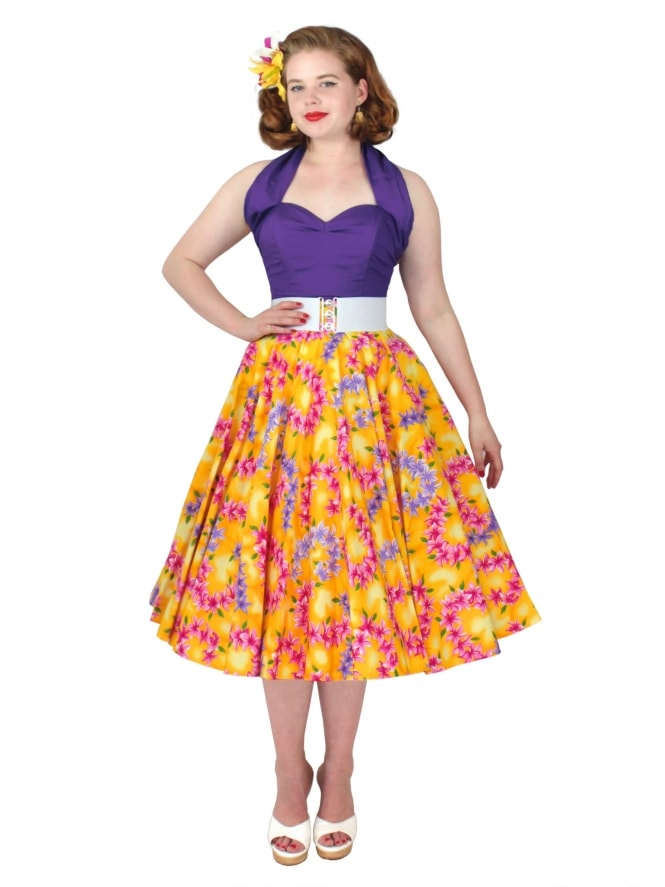 Circle Skirt Garland Yellow