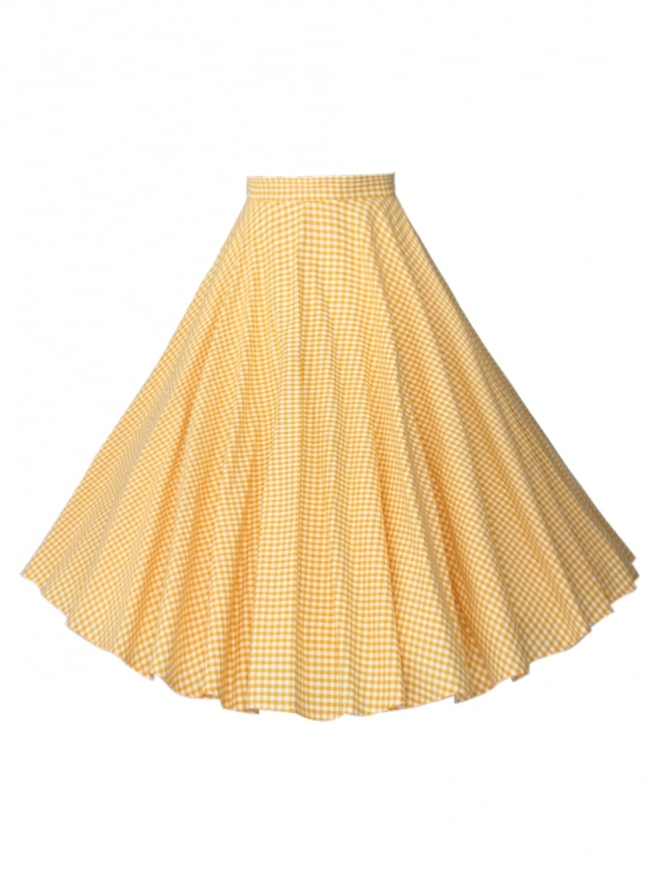 Circle Skirt Gingham Yellow