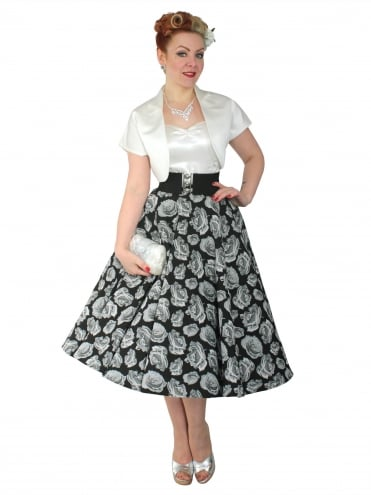 Circle Skirt Grey Rose