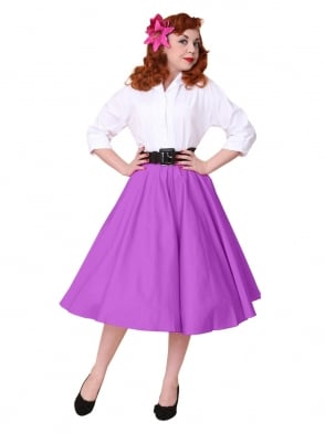 Circle Skirt Heather Sateen